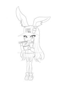Bunny Loli Lineart