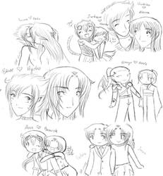 Couples Sketches by CoffeeCatComics
