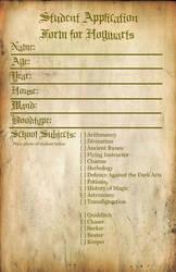 Hogwarts Student Application