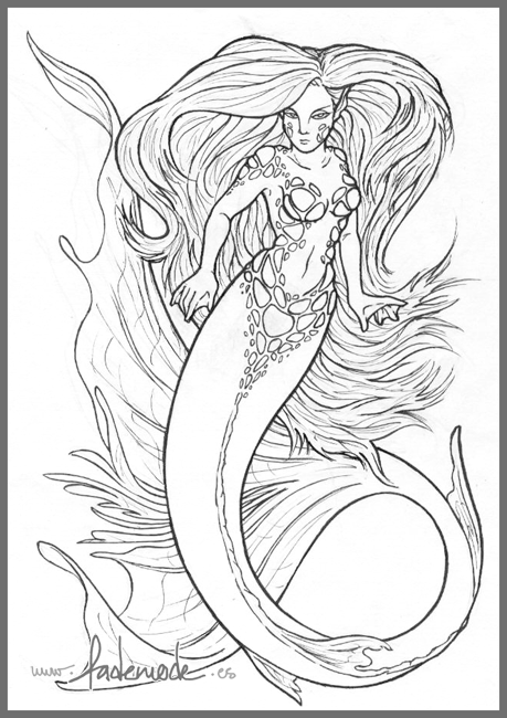 Line Drawing Mermaid : Mermaid line art by fademode on deviantart