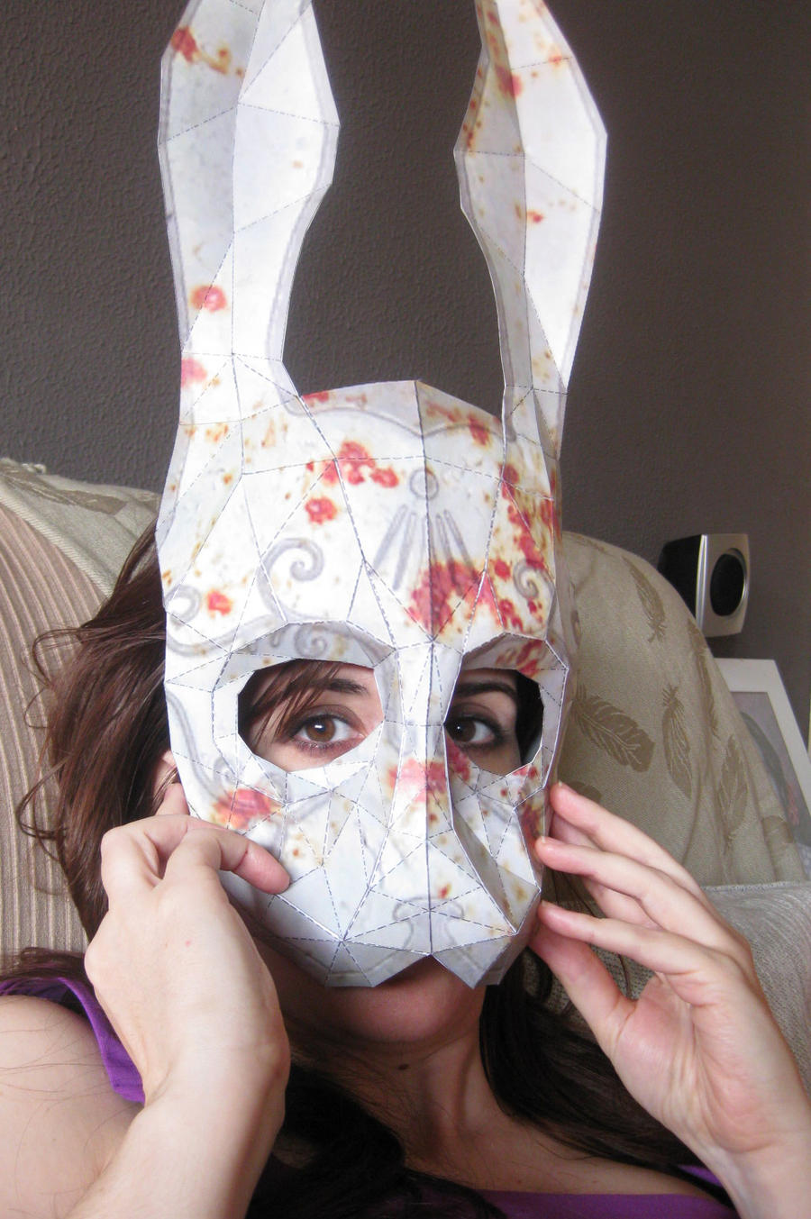 Splicer RabbitMask w Blood by fademode