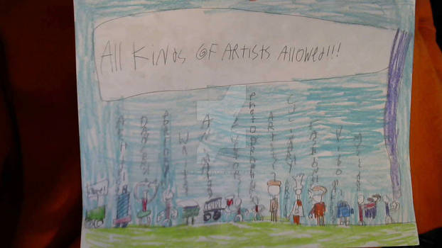 All Kinds of Artists Allowed!