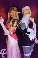 Sheik and Zelda, LOZ Cosplays by BanditsSpurs