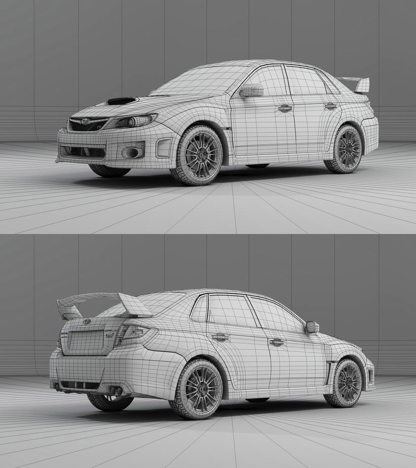 Subaru Impreza WRX STI Wire by Saleri on DeviantArt
