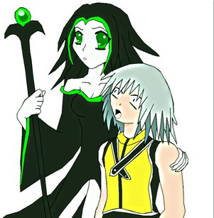 Young Maleficent X Riku by Crossed-Connections