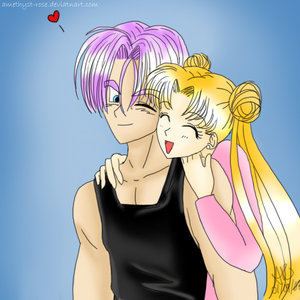 Trunks x Usagi by A-R by Crossed-Connections