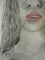 Watercolour Painting - Lips