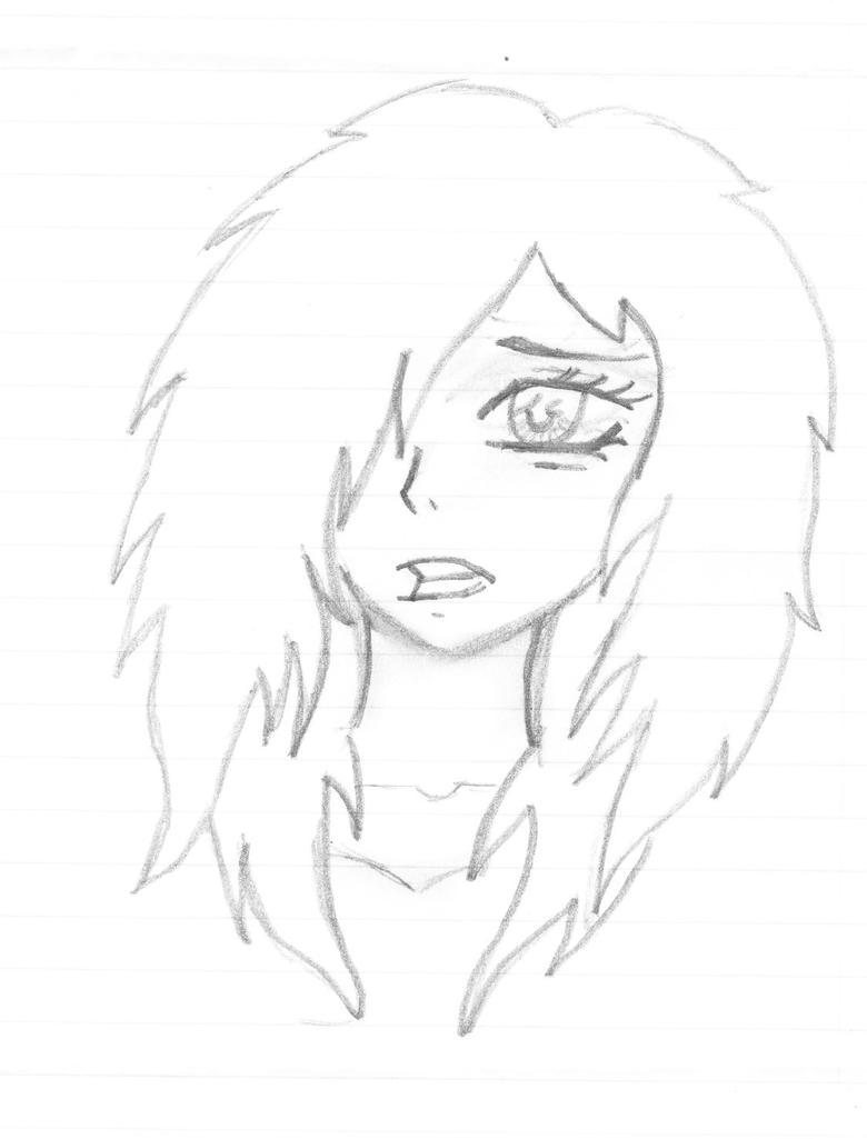 Scared Face Line Drawing : Scared girl by c lette on deviantart