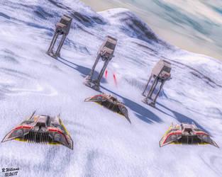 Battle of Hoth IV by tkdrobert