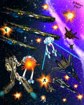 Macross Battle by tkdrobert
