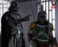 Vader and Fett by tkdrobert