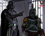 Vader and Fett by tkdrobert