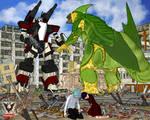 Mech vs Kaiju III by tkdrobert