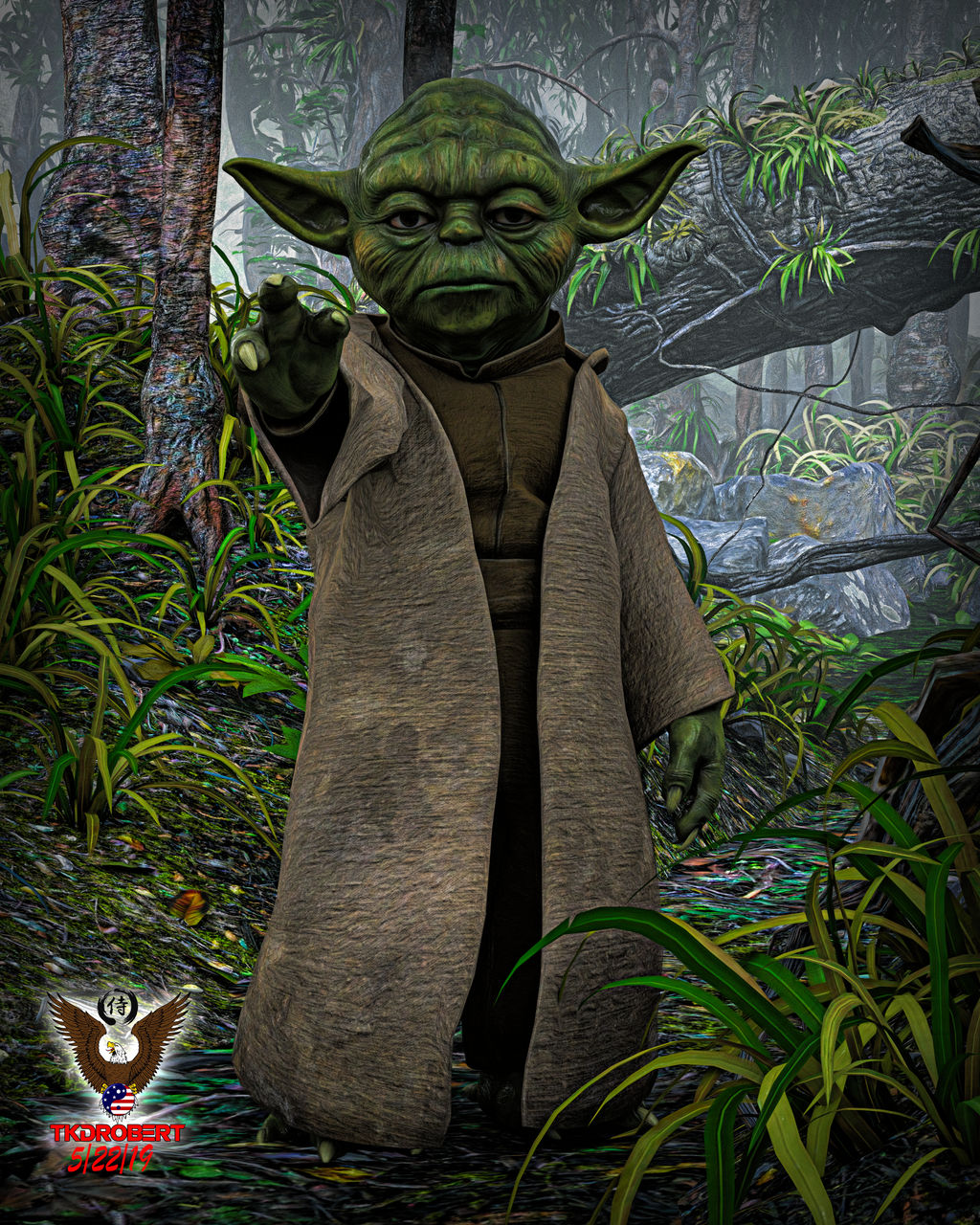 Master Yoda by tkdrobert