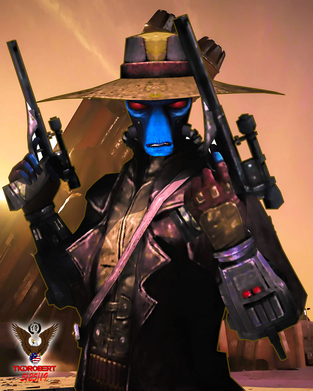 Cad Bane (Portrait) by tkdrobert