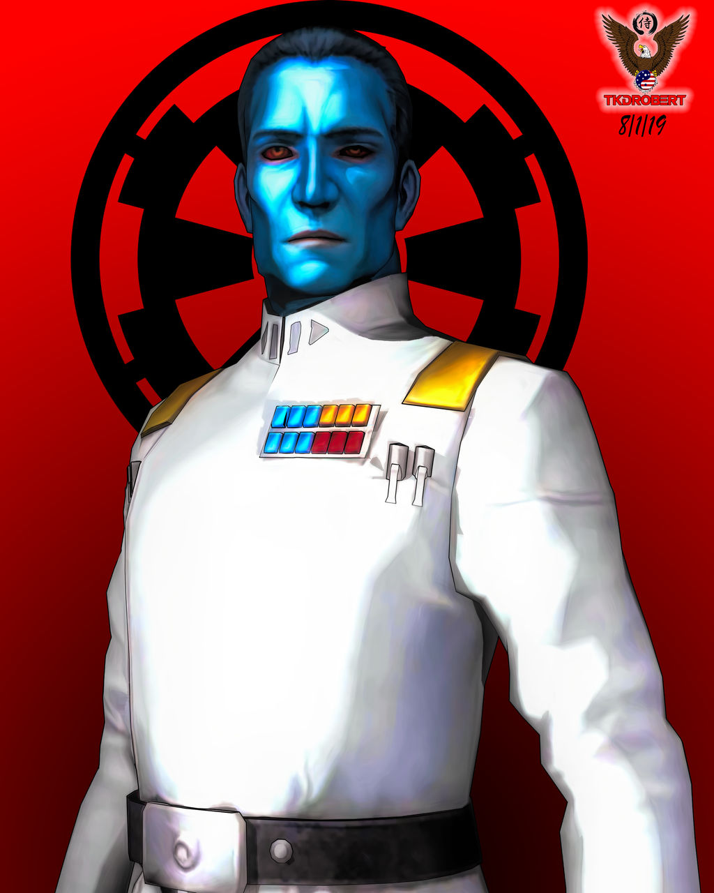 Grand Adniral Thrawn by tkdrobert