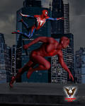 Team Up: Daredevil and Spider-Man by tkdrobert