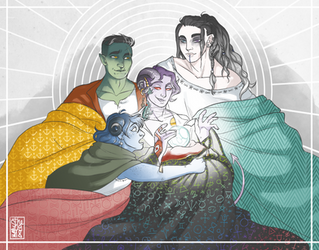 Divination Cuddle Pile by the-flying-beetle
