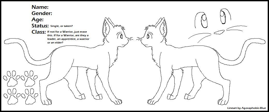 Cat Reference Sheet Lineart by Miiroku on DeviantArt