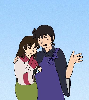 Miroku and Sango by Miiroku