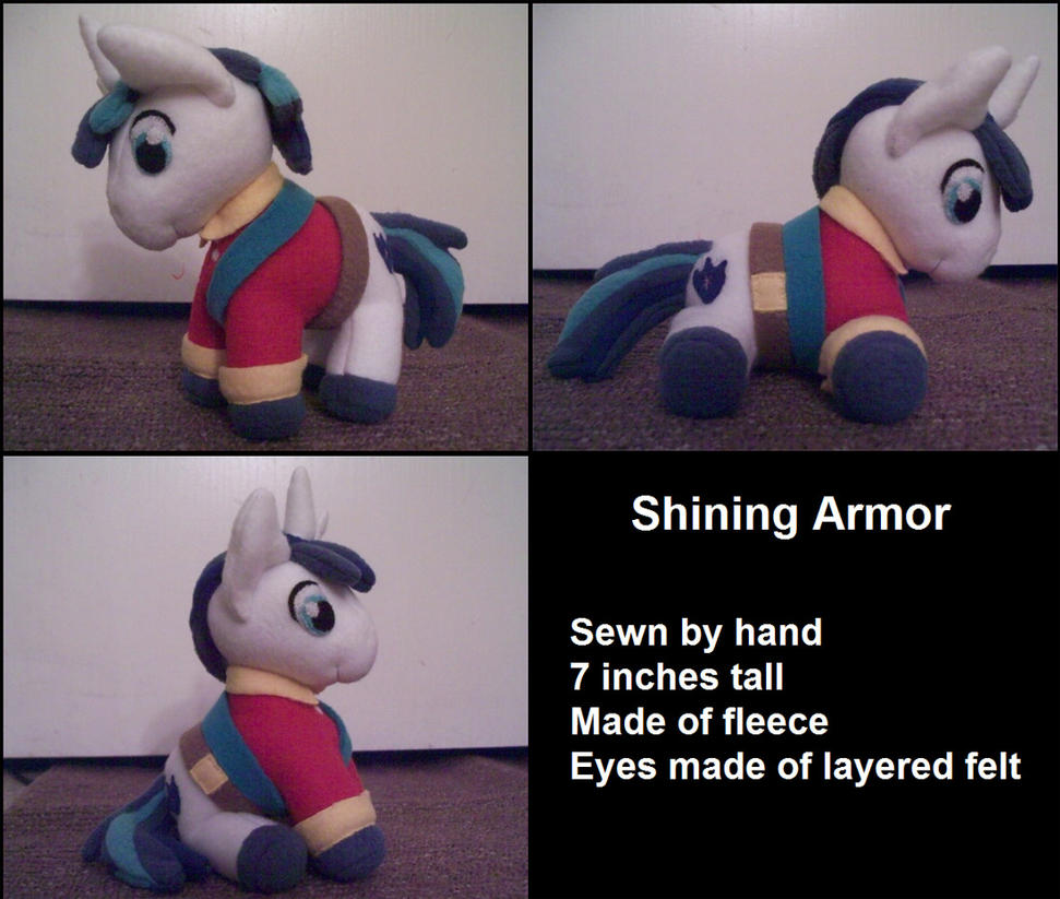 Shining Armor Plush by Miiroku