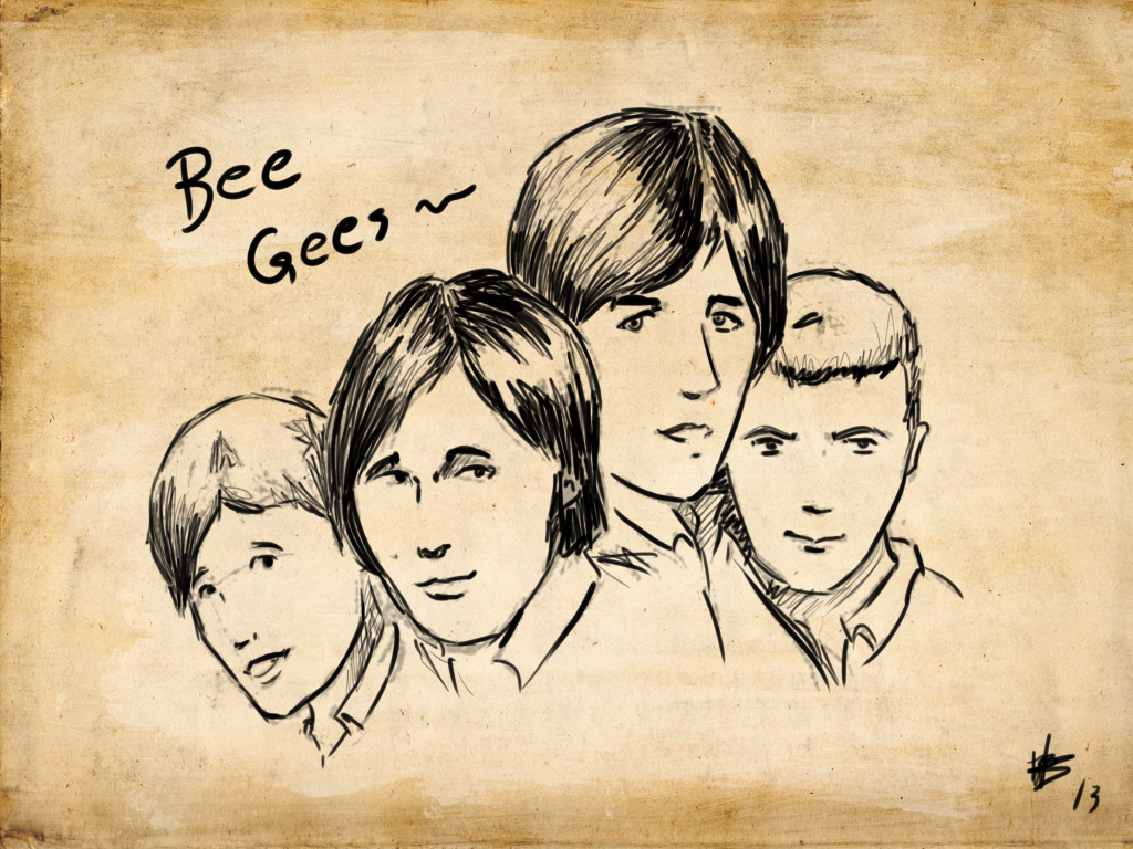 Manga Bee Gees sketch by pokedeoxys