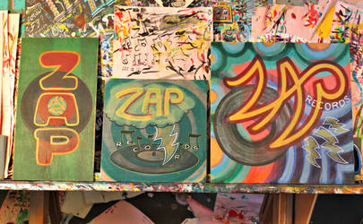 Zap Records (paint sketches - unfinished)