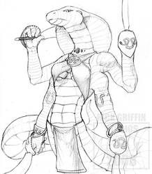 Four-Armed Snake by RickGriffin