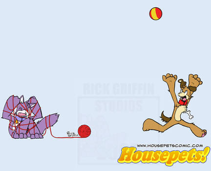 Housepets: Ball and Yarn by RickGriffin