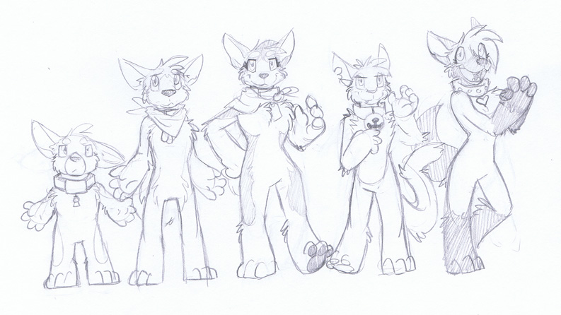 Housepets 3.0 first sketches by RickGriffin