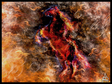 Abstract (Burning Horse)