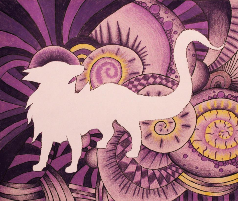 Swirl Wolf by twlightwolf9