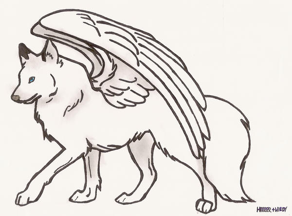 Easy Drawings Of Wolves With Wings | www.imgkid.com - The