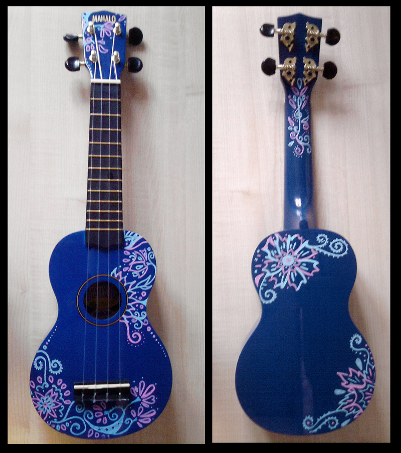 decorated ukulele by sivvus on deviantart ForDecoration Ukulele