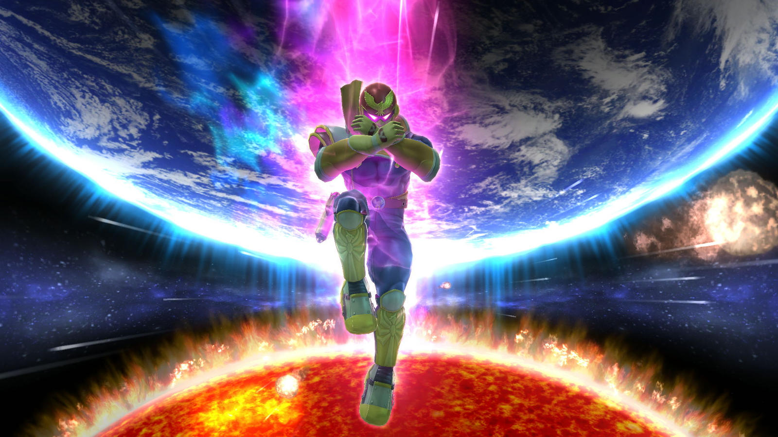 ssb wii u screenshot:captain falcon awesomness!big-mgs-fan117