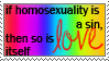if homosexuality is sin --- x by sweetest-surrender