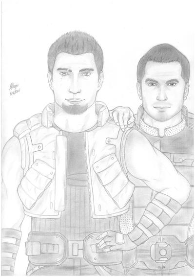 Llywelyn Shepard and Kaidan Alenko by Ergonis