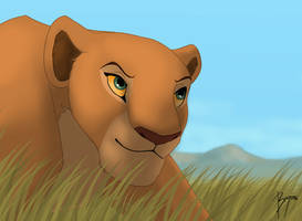 Nala's hunt by BeeStarART