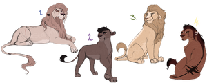 Sketchy lion Designs. CLOSED: