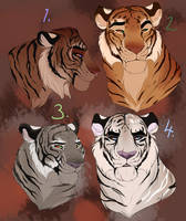 Tigers adopt. CLOSED by BeeStarART