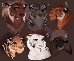 Tigers adopt. CLOSED: by BeeStarART