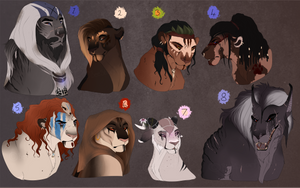 Lion designs: AUCTION. CLOSED: by BeeStarART