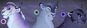 Blue Hue lioness adopt. CLOSED: