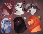 Lion designs. AUCTION. CLOSED: