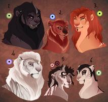 Lion designs. AUCTION. CLOSED: by BeeStarART