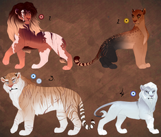 Full body lion designs. AUCTION. CLOSED: by BeeStarART