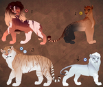 Full body lion designs. AUCTION. CLOSED: