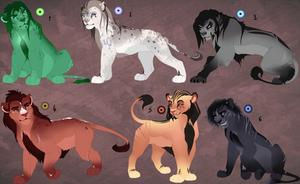 Adolescent lions adopt. OPEN 1left!! by BeeStarART