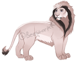 Lion sketch adopts. AUCTION. OPEN: by BeeStarART