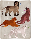 Lioness adopt. Collab with oCrystal. OPEN by BeeStarART